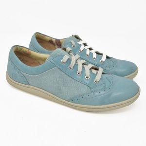 Born Blue Leather Oxfords